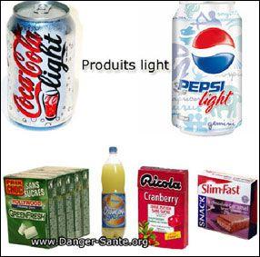 quelques produits avec aspartame